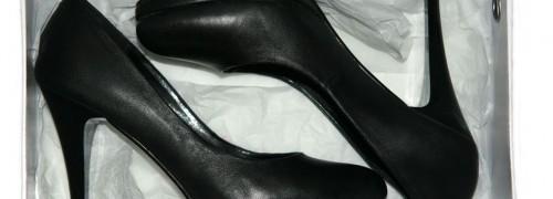 selten aber doch: silvie auf high heels...